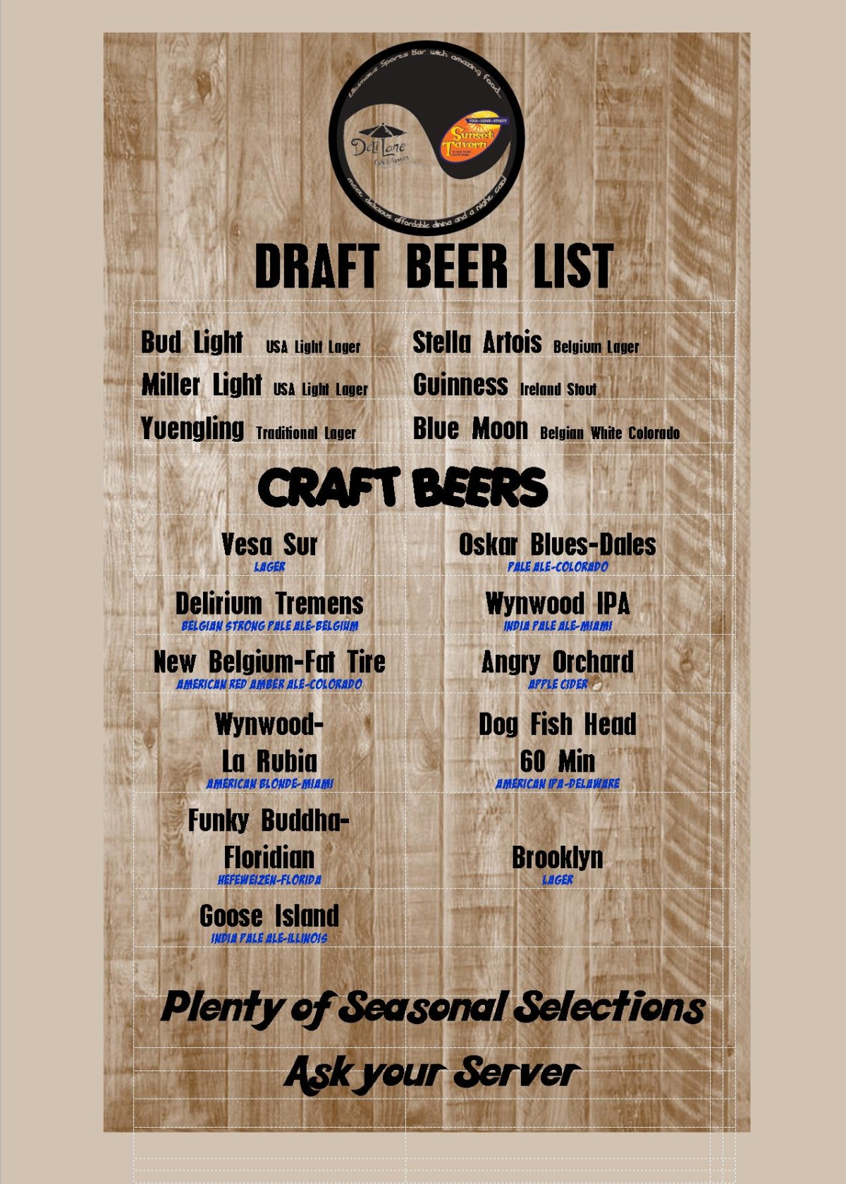 List of Drafts