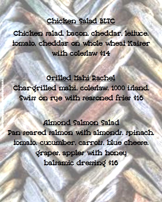 Specials for Tuesday January 22nd, 2019