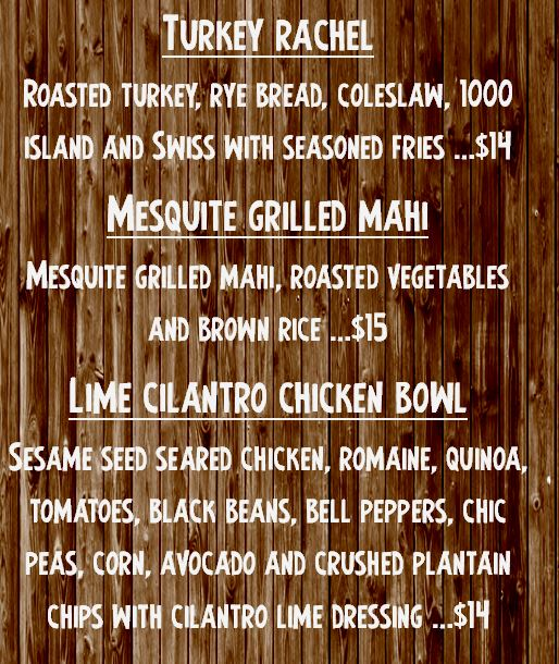 Specials for Friday February 16th, 2018