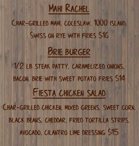 Specials for Friday April 20th, 2018