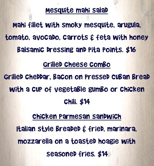 Specials for Monday June 10th, 2019